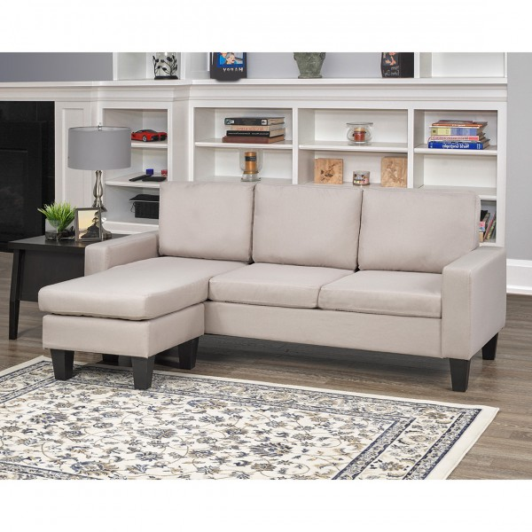 BEIGE SECTIONAL SOFA