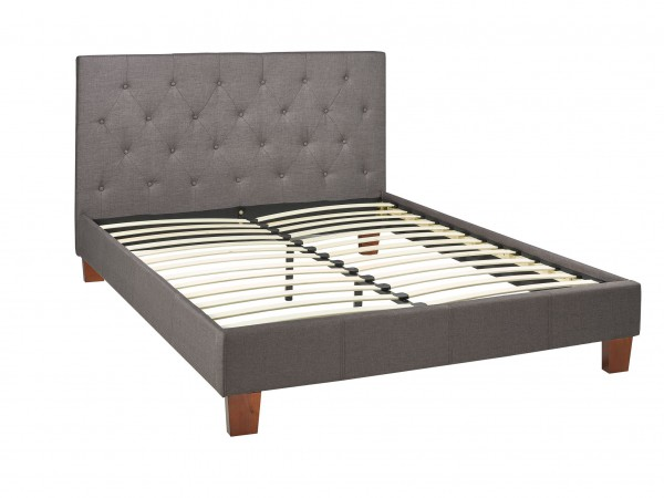PROMO FABRIC DOUBLE BED (GREY)