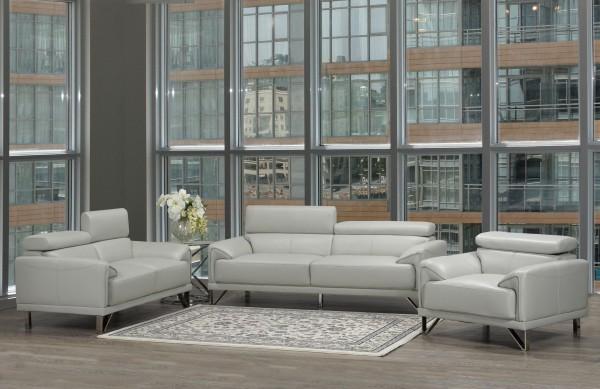 Layla 3- Piece Sofa Set, Light Grey