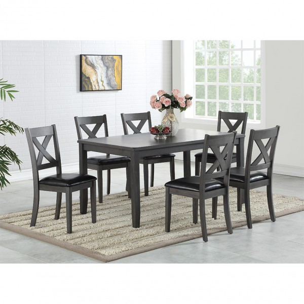 GABRIEL 7PC DINING SET GREY