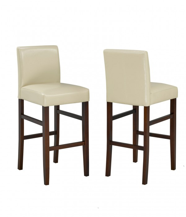 PU CREAM 29' BARSTOOL (BAR STOOL SET OF 2 )