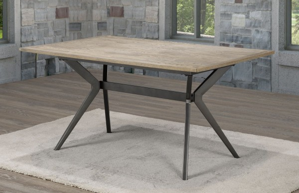 CELINE DINING TABLE/W METAL BASE