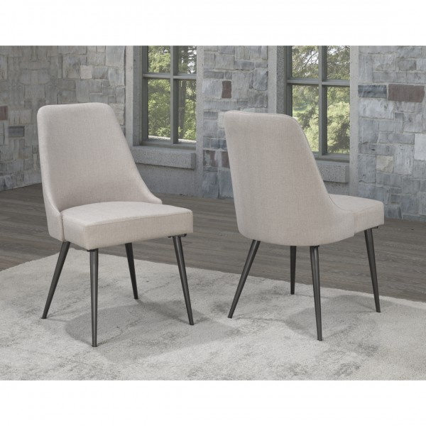 CELINE DINING CHAIR BEIGE (DINING CHAIR SET OF 2 )