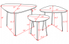 SIDE TABLE, SET OF 3