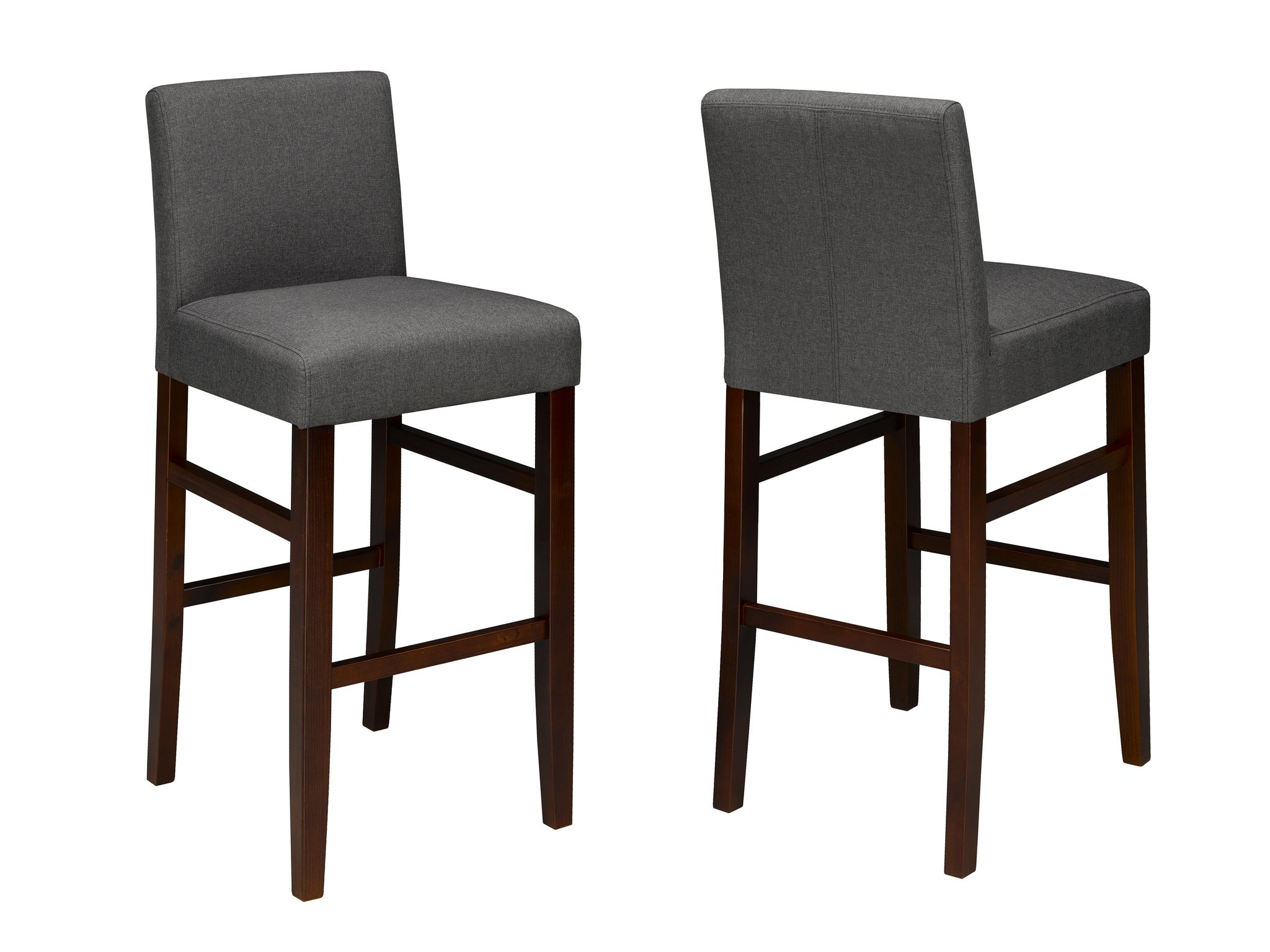 24' COUNTER BARSTOOL DARK GREY (BAR STOOL SET OF 2 )