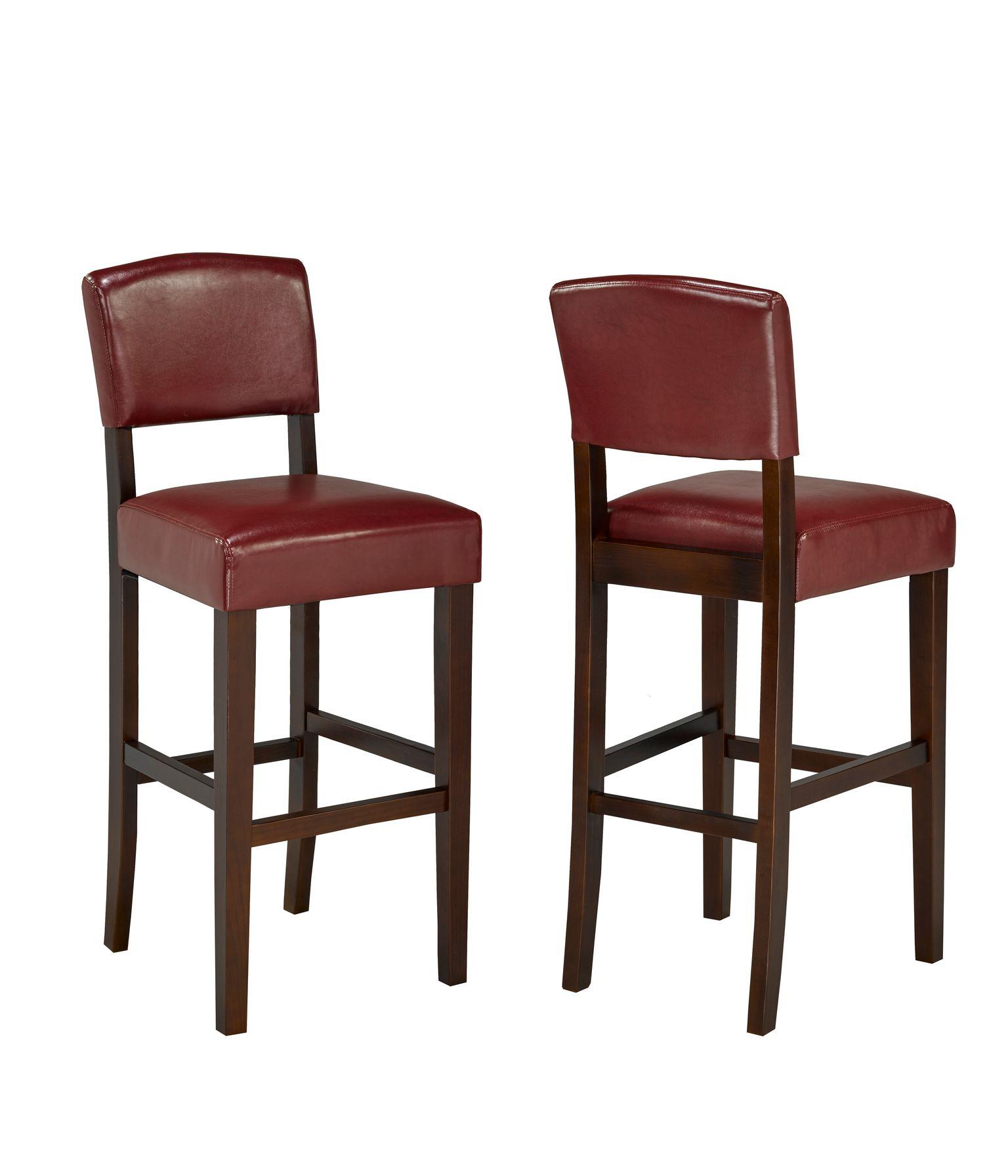 29' BARSTOOL RED  (BAR STOOL SET OF 2 )