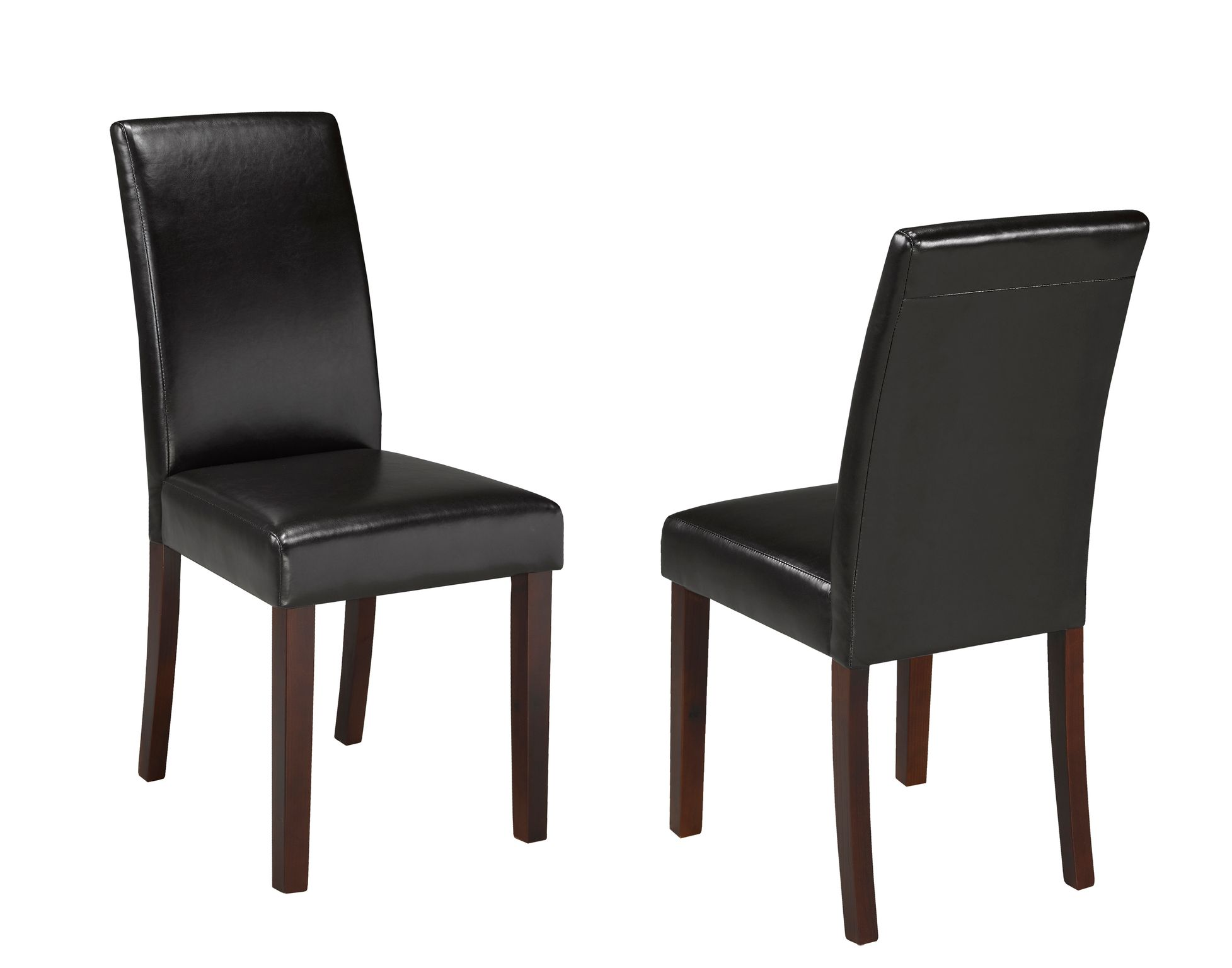 PU CHAIR BROWN (DINING CHAIR SET OF 2 )